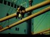 Arbeiten an Deck, Foto von Eckart Bothe