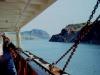 MS Bärenstein an der engsten Stelle im Panama-Kanal (Foto von Eckart Bothe)
