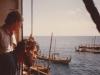 Fischer nördlich Malediven bei Tauschgeschäften